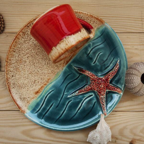 Deniz Yıldızlı Fincan Takımı