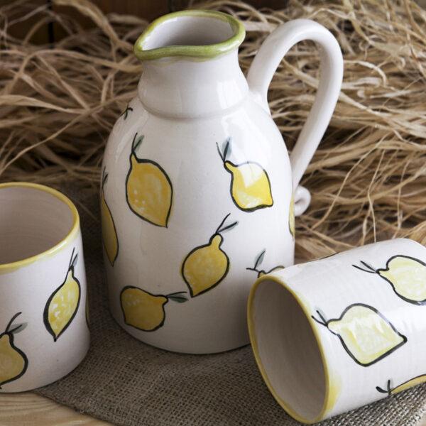 Limon Desenli Sürahi Takımı